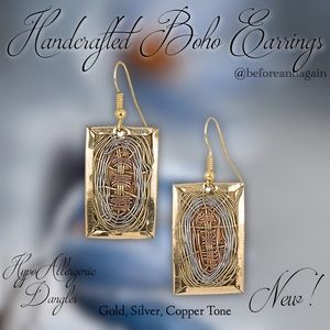 Jewelry - Handcrafted  Boho Earrings New!